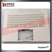 "Wholesale topcase macbook - Original Used White A1342 Top Case For Macbook Unibody 13"" A1342 Palmrest Palm Rest Topcase With US Layout Keyboard"