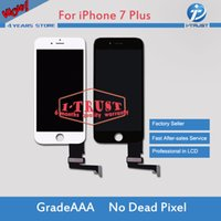 Wholesale free 3d frames - Grade A +++ For iPhone 7 Plus LCD and Display with 3D Touch Digitizer Frame Assembly Replacement & Free DHL shipping