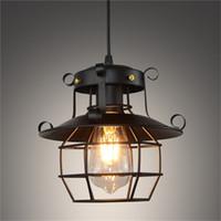 lámpara antigua de cristal al por mayor-Antigua moda Retro estilo vintage lámpara industrial Lámpara de vidrio antiguo aplique de pared