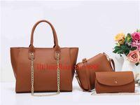 Wholesale Big Green Purse - 3 set 2018 fashion women famous brand MICHAEL KALLY handbags lady luxury designer shoulder tote bags purse PU leather big bag