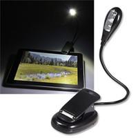 ingrosso book reader gratuito-Portable Super Bright 2 LED Book Light Dual LED Clip flessibile su lampada da lettura per e-reader Libri sul letto DHL FEDEX EMS SPEDIZIONE GRATUITA