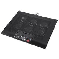 notebook-laptop-stand kühlung kühler großhandel-Unter 17inch Laptop Notebook Kühler Cooling Pad Basis USB Fans Einstellbarer Winkel Halterungen mit Halter Stehen Kostenloser Versand