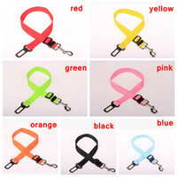 Wholesale dog vehicle online - 7 Color Adjustable Dog Car Safety Seat Belt Nylon Pets Puppy Seat Lead Leash Harness Vehicle Seatbelt AAA723