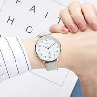 modische liebhaber uhren großhandel-Liebhaber Uhren Modische Joker Einfache Stil Paar Uhren Beliebte Casual Quartz Vintage Leder Uhr Freizeituhr