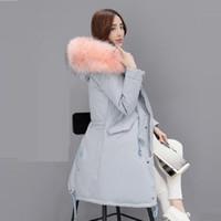 New Fashion Thick Warm Winter Jacket Women Large Fur Collars Parka Down  Cotton Jacket Snow Wear Lady Clothing Female Jackets 8e9d3ea91