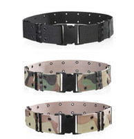 ingrosso uomini di esercito di plastica-Mens Wide Tactical Belt Belt Buckle Army Nylon Outdoor Hiking Mountain Camouflage Designer Cinture fitness palestra Cinture per uomo