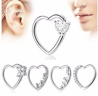 Wholesale 18g lip jewelry for sale - Group buy LOT100pcs CZ Gems g Lip Labret Studs Earring Helix Diath Ring Nose Rings Earring body piercing jewelry Heart Diath Helix Cartilage NEW