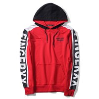 Wholesale sports clothes online - 2018 New Fashion Trend Couple Clothing Mens Hoodies Mens Hooded Sweater Mens Sports Coat Sale Red Color Casual Loose Letter Print