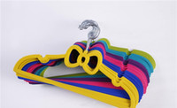 Wholesale store clothes hangers online - Cute baby hangers Non slip non slip children s flocking hangers Strap children s clothing store hangers suitaible years size x18 cm