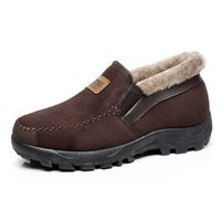 Wholesale open toe heel boots - 2017 New Fashion Men Snow Boots Plush Super Warm Suede Leather Boots Men Work Shoes Outdoor Lover Winter Father Shoes