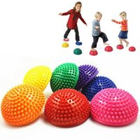 Wholesale fitness balance - Foot Massage Yoga Balls Durian Ball Training Fitness Toy Balance Bowl Training Slow Down Fatigue New Arrival 6 5ff W