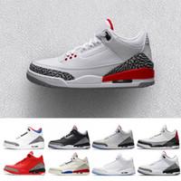 low priced a7b0b 1f03e air jordan retro 3 QS Katrina hommes Chaussures de Basket Tinker Corée Pure  blanc Noir Ciment International Vol Jet gratuit Ligne Hommes Sport Sneakers  nous ...