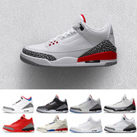 sports shoes b25fd a95a8 air jordan retro 3 QS Katrina Männer Basketball Schuhe Tinker Korea Pure  weiß Schwarz Zement International Flug Freiwurf Linie Herren Sport  Turnschuhe uns ...