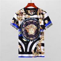 Wholesale show trade - F09 embroidery men t-shirt fashion Product Spring And Summer Body Short Sleeve Show Solicitude Foreign Trade Round Neck European