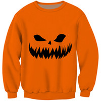 4b2865f5e40 Cloudstyle Fashion Unisex Sweatshirt Simple Orange Black Hoodie 3D Print  Demon Skull Tracksuits Mens Clothing Oversized Pullover