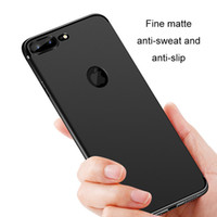 Wholesale apple matting - Soft TPU Silicone Cases For iPhone X 8 7 Plus 6s Slim Case 0.8mm 360 Full Cover Protective Matting Cell Phone Shell