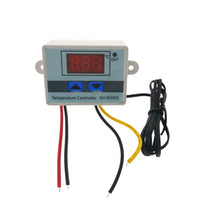 dijital termostat sıcaklık kontrolü toptan satış-220 V-50C-110C Dijital Termostat Sıcaklık Kontrol Regülatörü Kontrol Anahtarı termometre Termoregülatöre XH-W3001