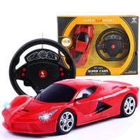 voiture rc 24 achat en gros de-Mini 1:24 RC voiture de dessin animé électrique télécommande voiture enfants Simulation jouet voitures modèle C4207