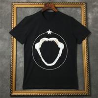 ingrosso stelle squali-Estate di marca di lusso abbigliamento uomo Rottweiler animale 3D stampa di squalo stella Designer t-shirt in cotone t shirt donna tee in cotone kanye west top