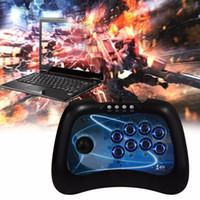 ingrosso giochi di combattimento joystick-Fashion Game Controller Wired USB Fighting Stick Arcade Joystick Gamepad Controller per controller di gioco per computer PS3 PC Android