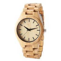 Wholesale led watches for sale - 2018 hot new latest wooden wristband watch Original ecological bamboo and wood dial leads the light luxury casual style