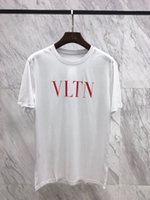 Wholesale funny letter - 2018 Summer Fashion T-Shirt Newest Men Funny T Shirts Leisure simple personality letters printed Tops Hip Hop Tee
