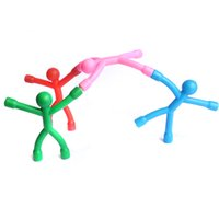 Wholesale Gadget Fun - Bendable Magnet Man Toys fun funny gadgets novelty toys for men and kids Figure Sticker Office action figure Amazing Mini Q-Man