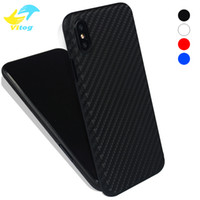 Wholesale Fibre Case - For Iphone X Phone Case Soft PP Carbon Fibre Slim Back Cover Full Protective Case 4 Colors