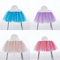 bebek sandalyeleri toptan satış-Yumuşak Tutu Sandalye Etek Bebek Duş Düğün Parti Dekorasyon Sandalyeler Için Kapak Karikatür Çok Fonksiyonlu Süs Yüksek Kalite 28mr CB