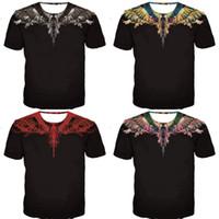 flügel tragen großhandel-Marcelo Burlon T Shirts Männer Frauen Allmähliche Änderung Feder Flügel Hauptabnutzung Mode Komfortable Kurzarm 2 3nk Ww
