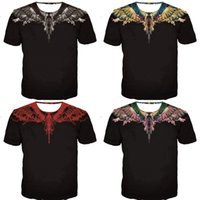Wholesale wings wear resale online - Marcelo Burlon T Shirts Men Women Gradual Change Feather Wings Home Wear Fashion Comfortable Short Sleeve nk Ww