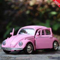 Double Horses 1:36 Hot Sale retro Beatles Alloy Car Model para brinquedos para crianças Wholesale Diecast Roadster Car For Collect children gift