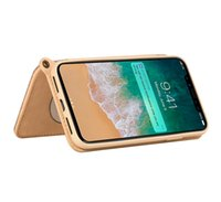 Wholesale iphone flip up card for sale - Group buy Electroplate TPU Flip Case Acrylic Make Up Mirror Cell Phone Cover For Ladies Hanging Rope Phone Accessories Case