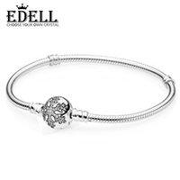 ingrosso accessori gioielli diy-PASINIYA 100% 925 argento zircone fiocco di neve braccialetto di base accessori moda donna bracciali gioielli fai da te in rilievo PAN