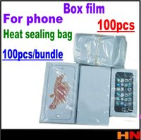 Wholesale Film Fronted Bags - 100pcs For iphone samsung ipad iwatch mobile phone packaging shrink film Parafilm Heat sealing bag Parafilm free shipping