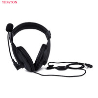 Wholesale kenwood tk - YIDATON Radio Heavy Duty Headset With Double Earmuff Headset For Kenwood TK-3107 BAOFENG UV-5R Radio In Helmet PTT VOX Earpiece