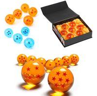 conjunto de estrelas dragonball z venda por atacado-2 Cor Nova Animação DragonBall laranja azul 7 Estrelas sobre 4.3 CM 7 CM Super Saiyan Dragon Ball Z conjunto Completo Caixa de brinquedos 7 pçs / set B