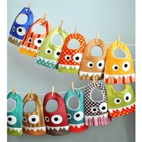 Wholesale Small Bibs - The explosion small monster baby baby bib cotton towel slobber children bib wholesale Free shipping B1003