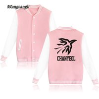 Wholesale korea plus size clothing online - 2017 EXO Team Kpop Jacket Women College Sweatshirts EXO Fans Kpop Album Hoodies Girl Korea Jacket Clothes plus size WANGCANGLI