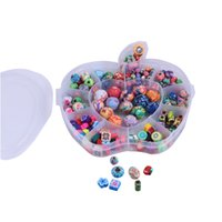 ingrosso gioielli in argilla polimerica diy-Apple Box Polymer Clay Perle colorate rotonde a caso Decorazione gioielli fai da te Trovare accessori colore misto G189L
