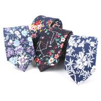 cbb1681afd8f Wholesale red neckties online - TAGER WILEN Men s Slim Necktie Casual  Cotton Floral Skinny Tie