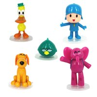 ingrosso giocattoli decorativi per ufficio-5 Pz Pocoyo Zinkia Plastica Action Figure Modello Bambole Bella Cartoon Anime Ufficio Decorazione Bambola Giocattoli per bambini 16hc UU
