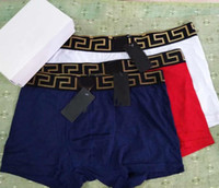 Wholesale wholesale high fashion swimwear - High Quality Shorts Briefs For New Fashion Brand Design Underwear For Men Sexy Boxer Swimwear