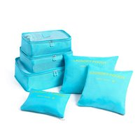 bolsa de ropa al por mayor-Bolsa de almacenamiento de equipaje de viaje Conjunto de ropa Ropa interior Zapato Bolsas de cosméticos Sujetador Bolsa de bolsa Organizador Bolsa de lavandería 6pcs / set