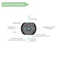 автомобиль сотового телефона bluetooth оптовых-A2DP 3.5 мм разъем Bluetooth автомобильный комплект автомобильный Беспроводной Bluetooth 4.0 AUX аудио музыка приемник адаптер с микрофоном для мобильного телефона