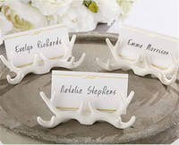 Wholesale shape card holder resale online - Originality Wedding Props Card Holders Favors Party Table Decoration Christmas Supplies Note Stand Buckhorn Shape Support yk jj