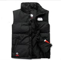 veste pour homme xxl achat en gros de-Chaude 2019 hommes DOWN hiver vers le bas veste North Polartec gilet sport masculin à capuche vestes col de bombardier avec fermetures à glissière face extérieure manteaux