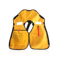 Wholesale kayak jackets resale online - Swimming Life Vest Men Women Inflatable Life Jackets Safe Rescue Vest Surf Fishing N Buoyancy kayak Self Help Accessories