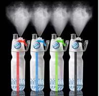 ingrosso bicicletta bevendo bottiglia-500ml Sport Water Bottle Spray Mist Ciclismo Outdoor Bere portatile Cool Gym Sport Bottiglia idratante multiuso KKA4253