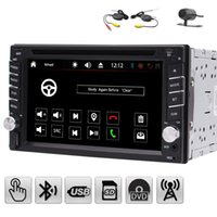 Wholesale Free Mp3 R - 6.2'' Double 2 Din Car Stereo Automotive car DVD Player in Dash Radio Hands-free Bluetooth USB SD MP3 Player Autoradio Aux+Wireless camera